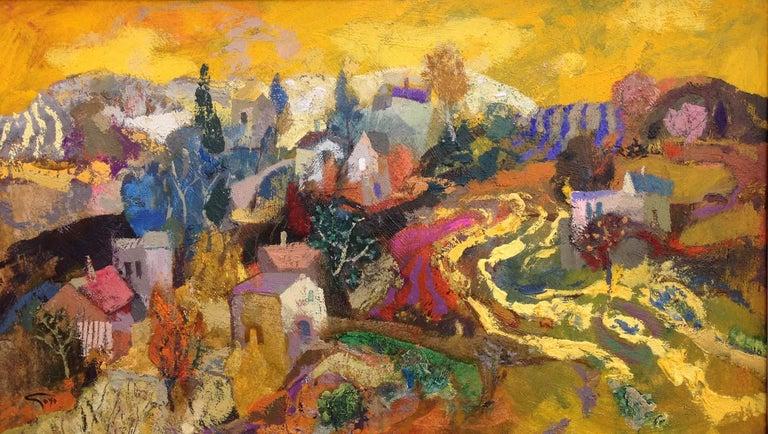 Goyo Dominguez Landscape Painting - Surcos amarillos