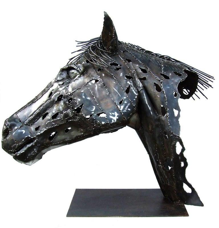 Appaloosa - Black Figurative Sculpture by Jean-François André