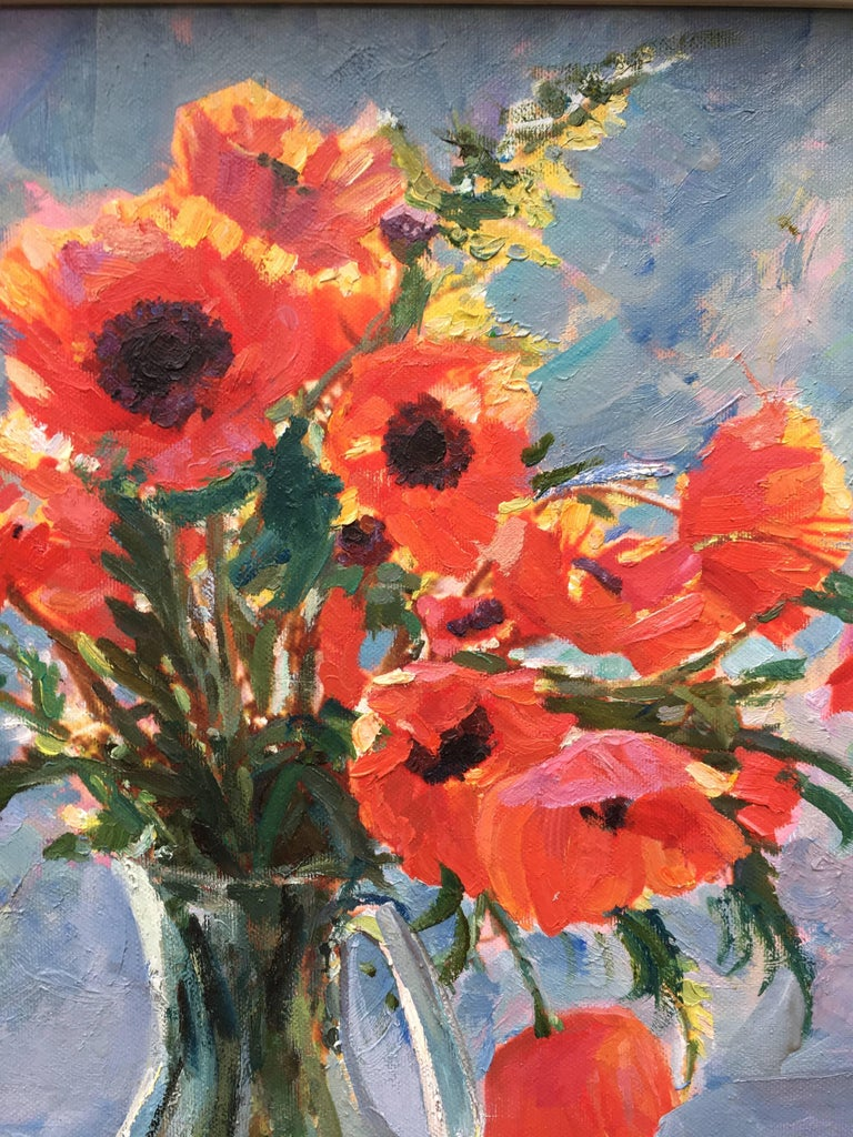 The Poppies - Painting by Sergey Marchenko