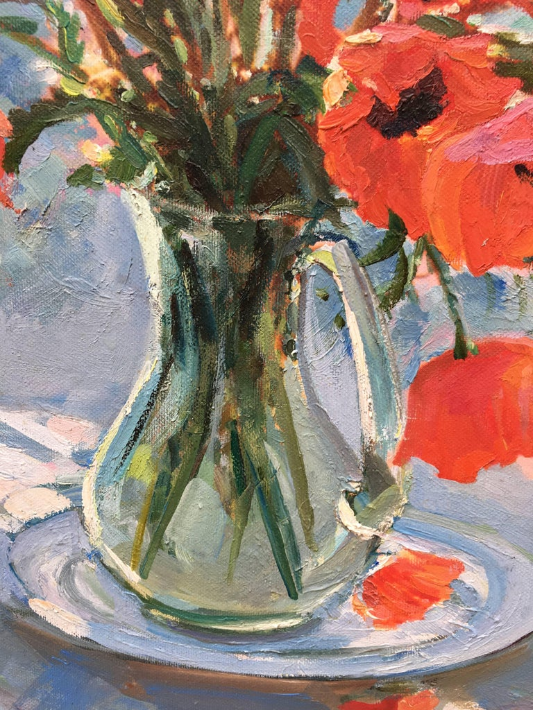 The Poppies - Impressionist Painting by Sergey Marchenko