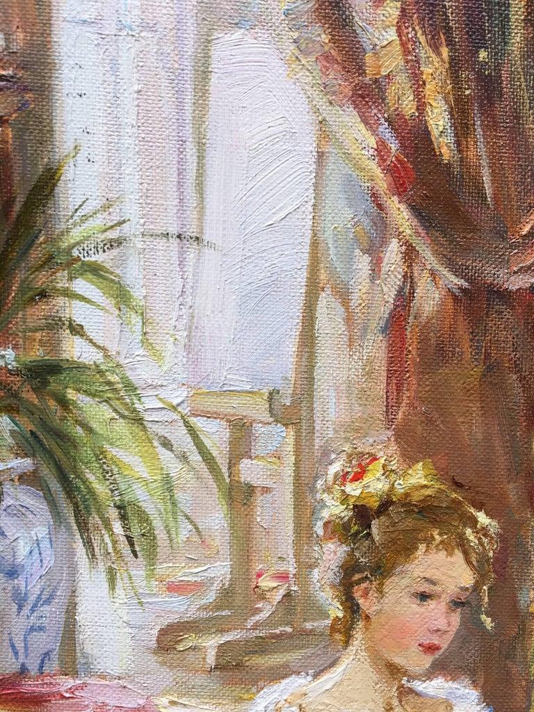 The Artist's Studio - Impressionist Painting by Sergey Marchenko
