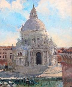 Santa Maria della Salute, Venice scene , impressionist style
