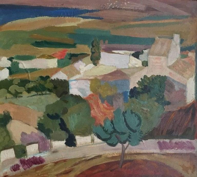 Emilio Varela Figurative Painting - Campo alicantino, Spanish impressionist style