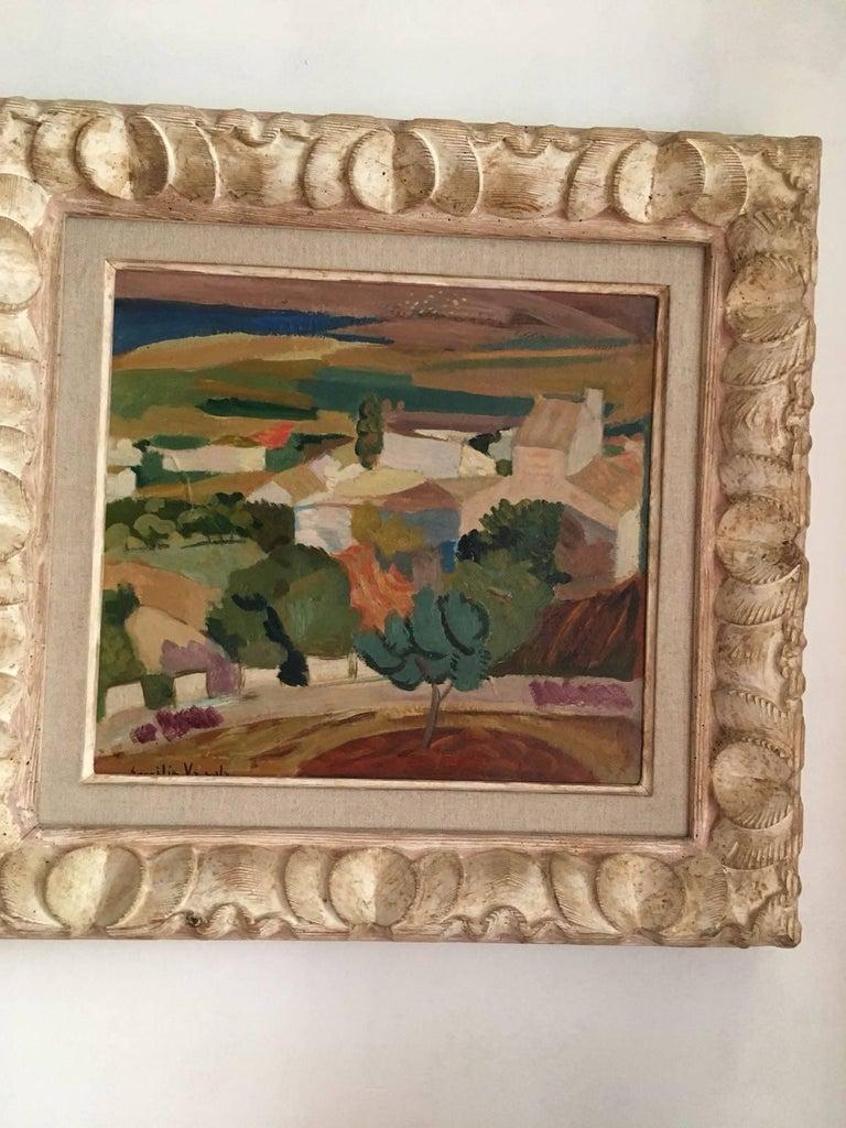 Campo alicantino, Spanish impressionist style - Post-Impressionist Painting by Emilio Varela
