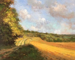 """Chemin de Montbois"" little oil painting post-impressionist style"