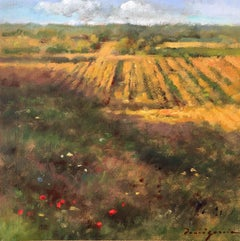 The stubble, little oil painting post-impressionist style