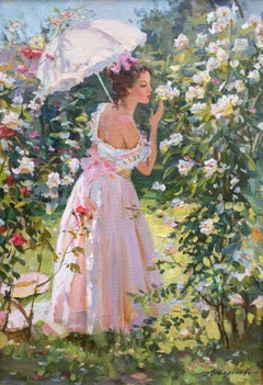 Summer day, oil on canvas post-impressionist French  style