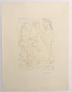 Sculpteur, Modèle, Sculpture et Poisson Rouge (Bloch 152)