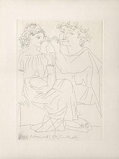 Flûtiste et Jeune Fille au Tambourin (Bloch 213)