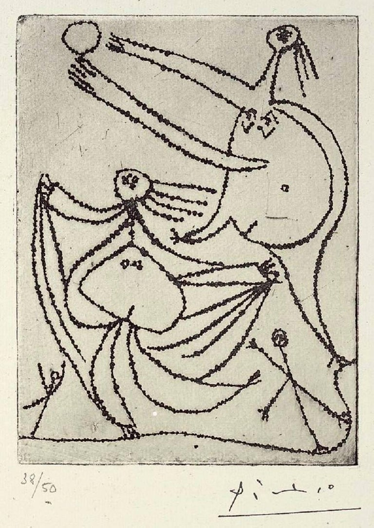 Pablo Picasso Figurative Print - Baigneuses sur La Plage, III (Bloch 240)