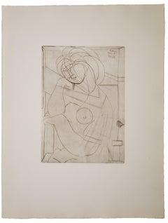 Pablo Picasso Femme au Fauteiul songeuse, la Joue sur la Main, Bloch 218