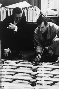 Hugh Hefner, Vintage 1960s Black and White Photography of Celebrity Playboy