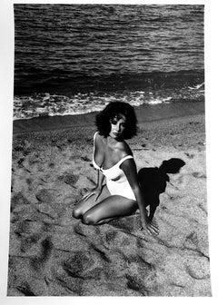 Burt Glinn, Elizabeth Taylor, Suddenly Last Summer, photo, signed, stamped, 1959