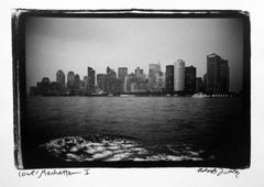 Lower Manhattan I, Black and White Waterfront Photograph New York City