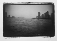 Lower Manhattan II, New York City, Gelatin Silver Waterfront Photograph