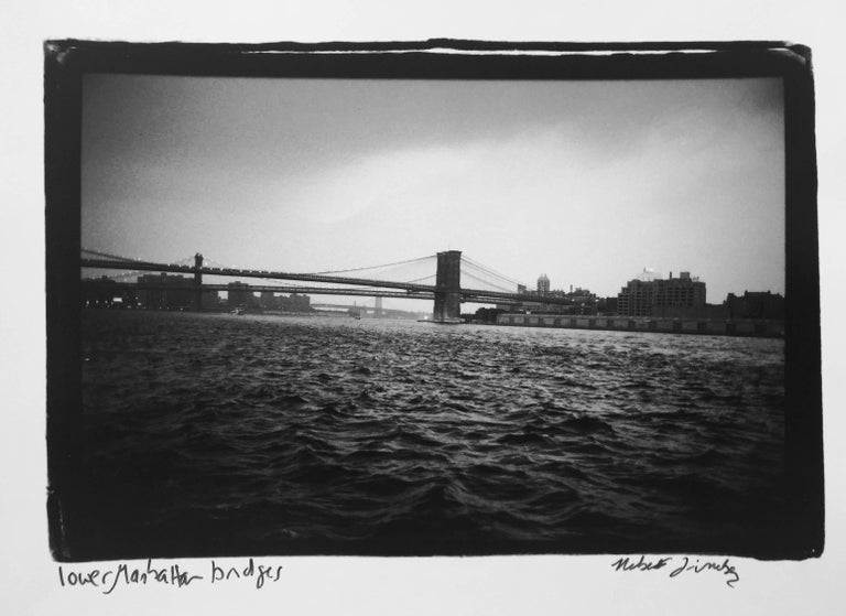 Roberta Fineberg - Lower Manhattan Bridges, New York, gelatin silver, signed 1