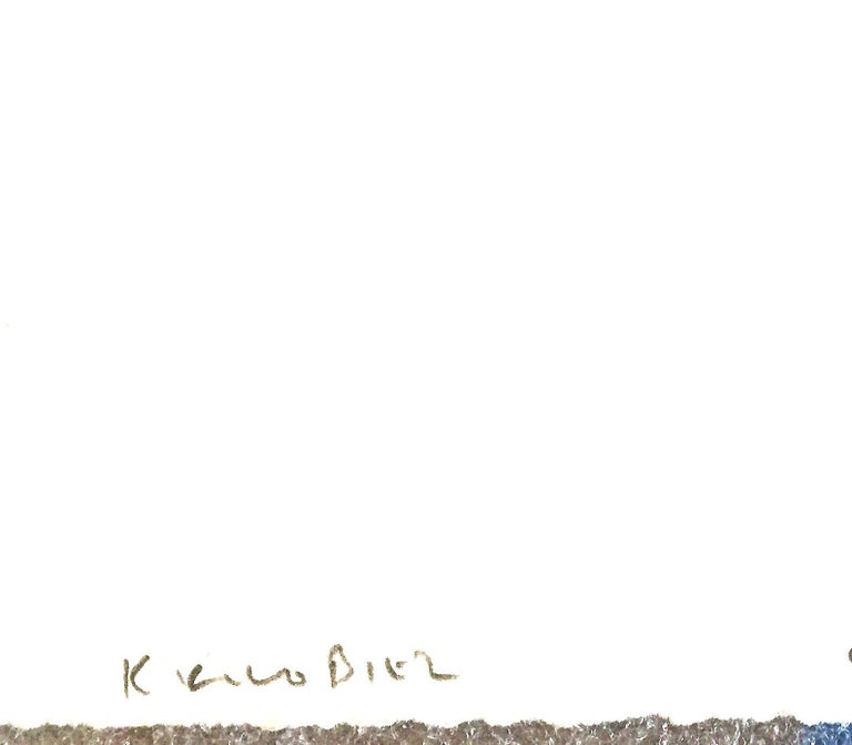 Plant Drawing #2, Bermuda, original drawing, graphite, signed by Karl Klingbiel For Sale 1
