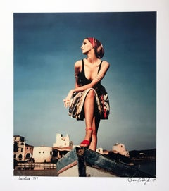 Sardinia, Italy, Contemporary Color Portrait Photography Model 1960s, Ed of 8
