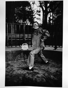 Central Park Boy, New York, gelatin silver, signed
