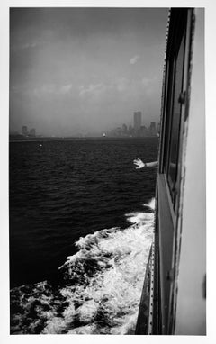 Staten Island Ferry, Twin Towers, New York, 2000 by Roberta Fineberg