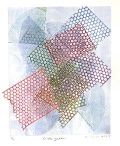 Circle Game, work on paper, monoprint