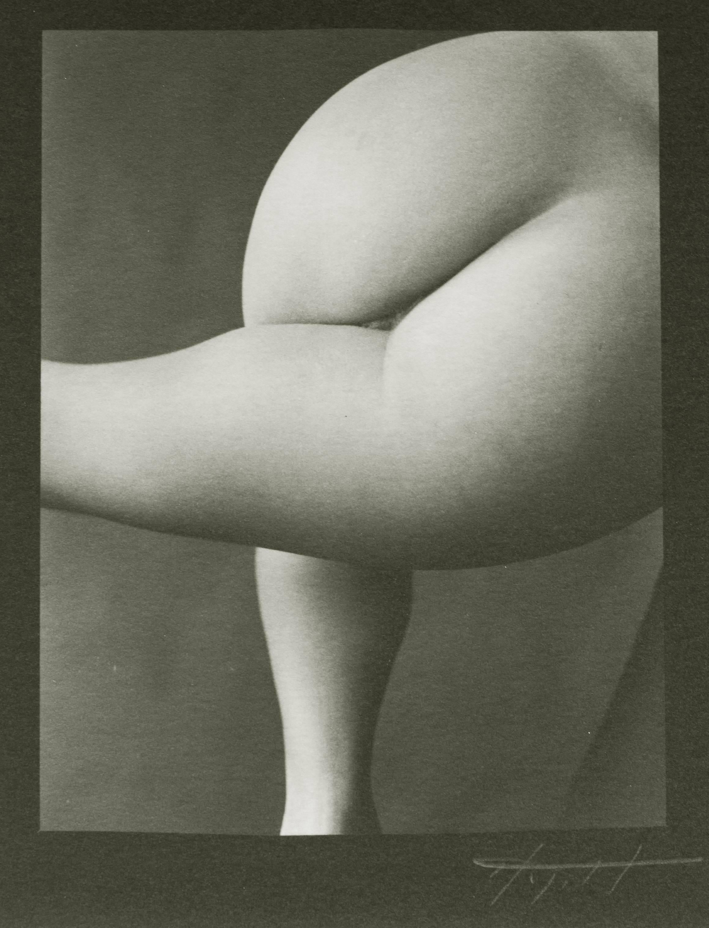 Nude #61, Abstract Female Nude Platinum Print