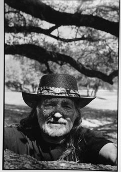 Willy Nelson, Texas, gelatin silver, RC, signed