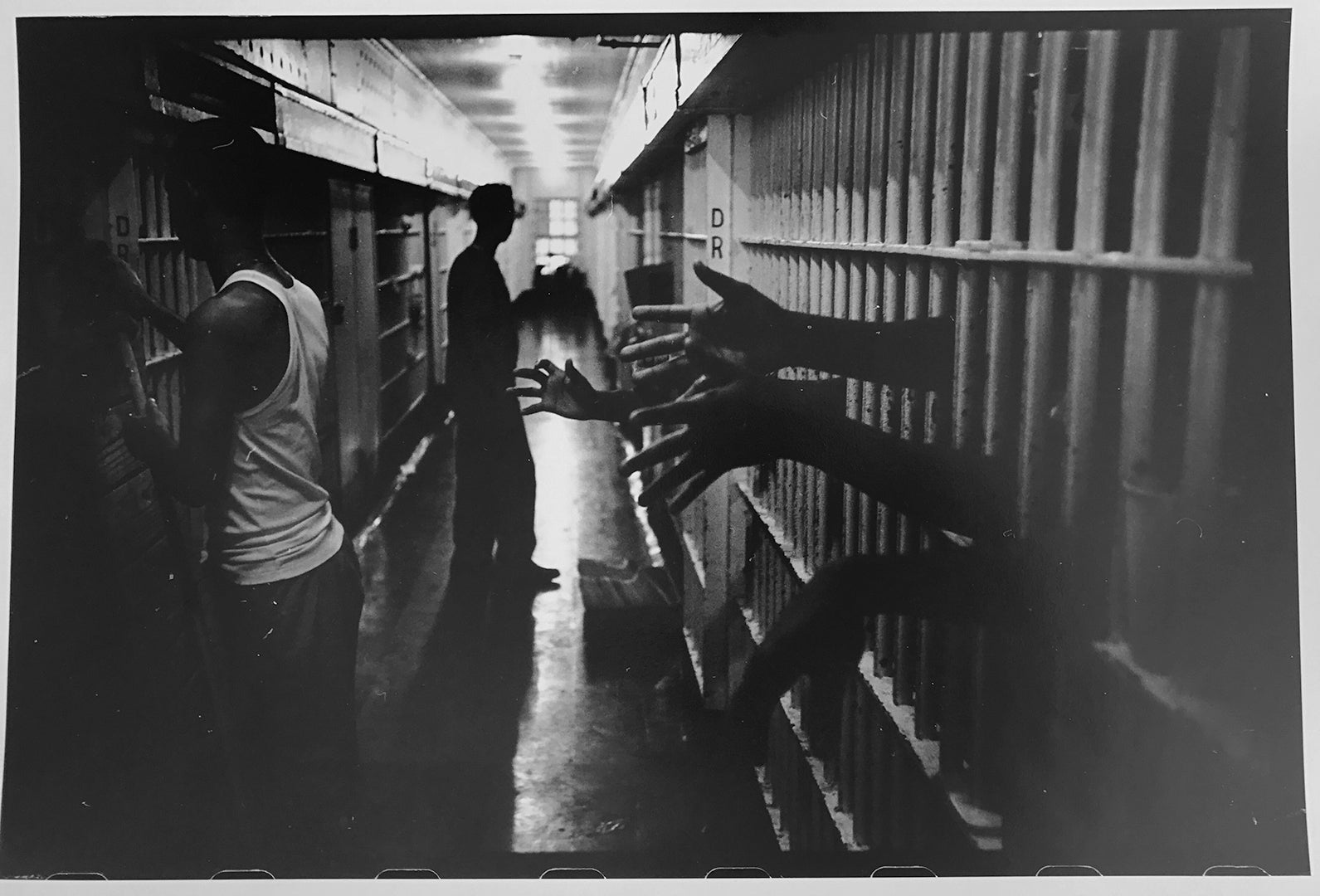 City prison new orleans vintage black and white documentary civil rights photo