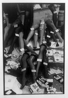 Rome, Stockings, stamped vintage, gelatin silver RC print, signed