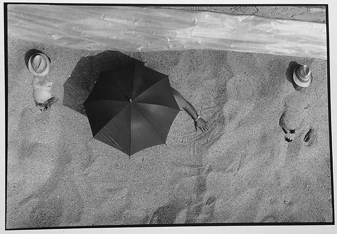Italy, Beach, Black and White Photography 1980s Summertime at the Beach