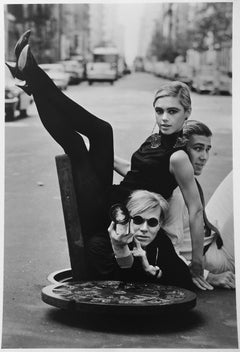 Andy Warhol, Edie Sedgwick, Chuck Wein, New York City, lifetime print, signed
