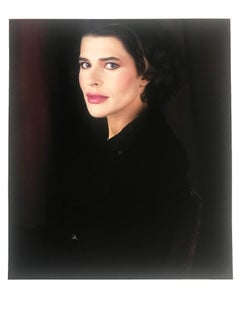 Fanny Ardant, 1990 by Jean-Michel Voge, Paris, celebrity portrait