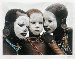 Family, Surma, Omo Valley, Ethiopia, Africa, editioned print