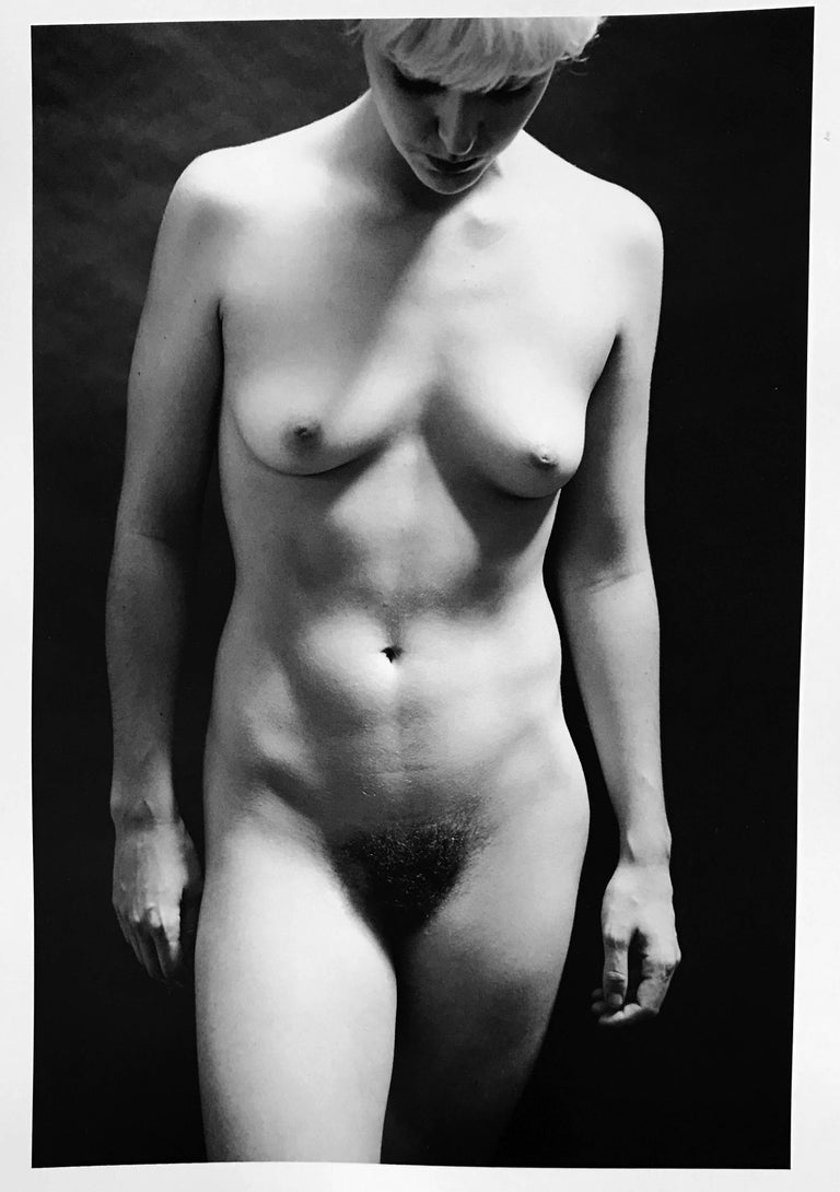 Roberta Fineberg Nude Photograph - Alabaster Nude, Contemporary Black and White Photograph of Female Nude