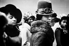 Harlem Fashion Show, hats, 1963 by Leonard Freed, gelatin silver print