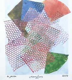Many Fans, 2017 by a.muse, monotype