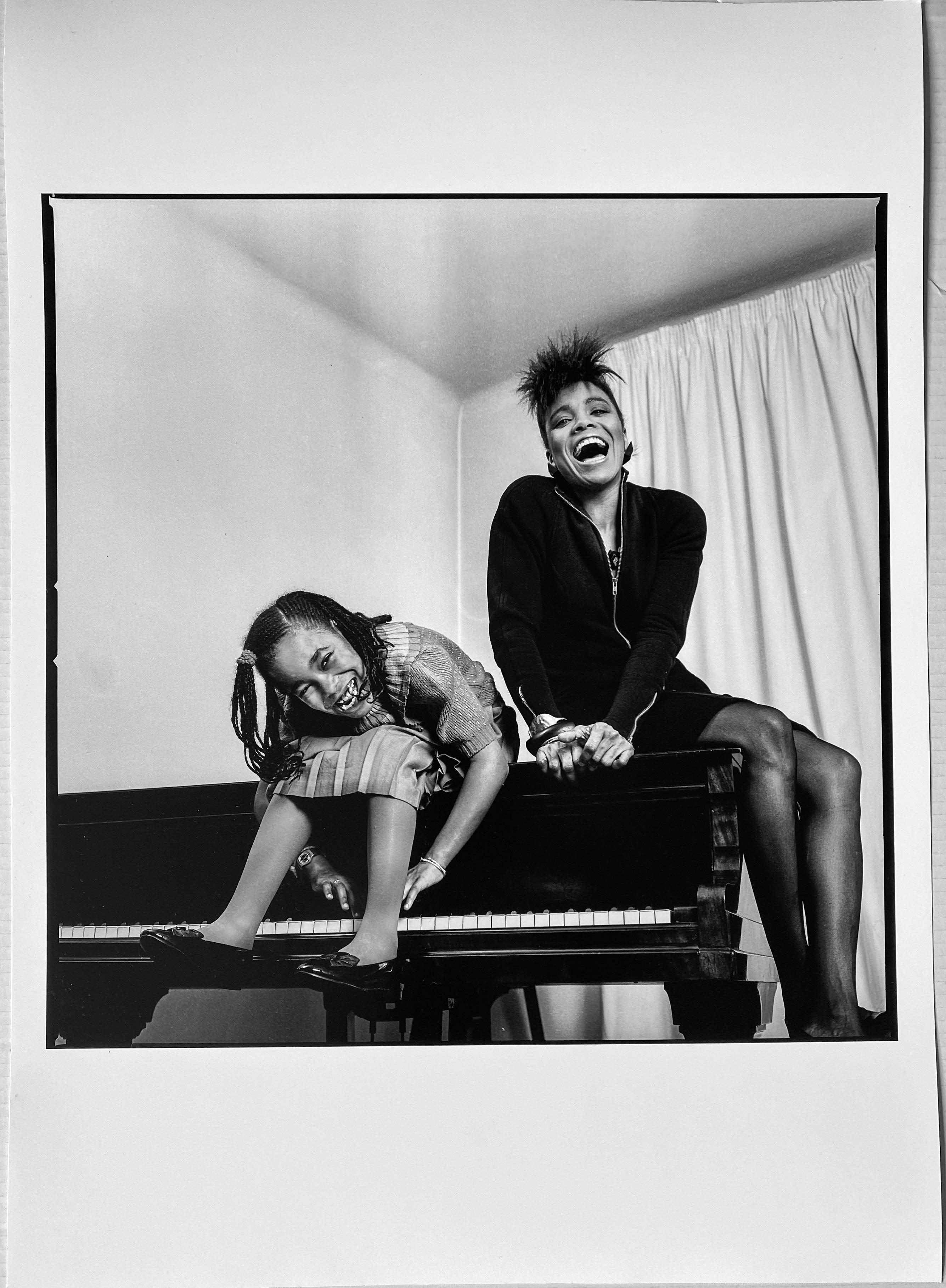 Dee Dee Bridgewater and Daughter China Moses, Paris, Musician Portrait 1980s