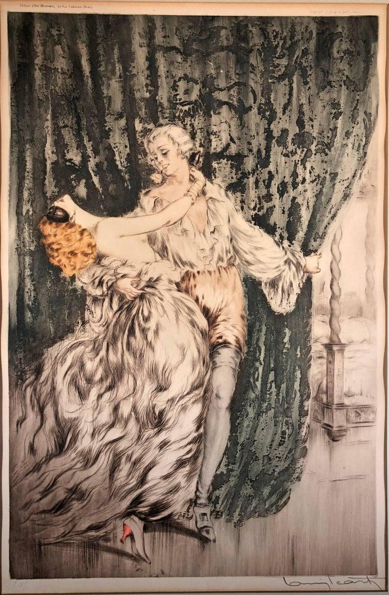 Louis Icart Figurative Print - Casanova