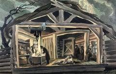 1930s Cabin Scene