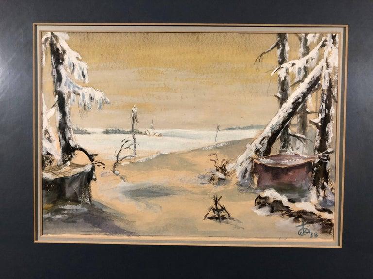 Unknown Landscape Art - Winter Landscape 1938