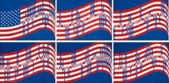 Wav(er)ing Flags (Six Lithographs)