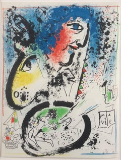 "Self-Portrait (Frontispiece for ""The Lithographs of Chagall, Vol. I)"