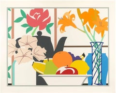 Tom Wesselmann - Still Life of Petunias, Lilies and Fruit