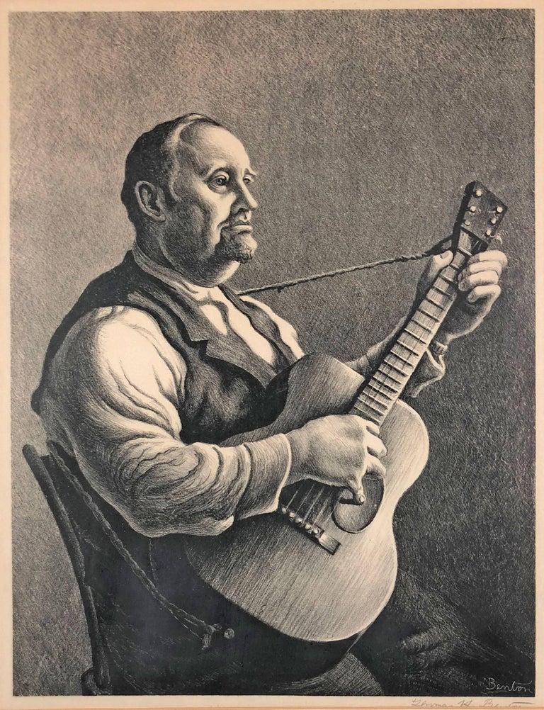 Thomas Hart Benton Portrait Print - The Hymn Singer