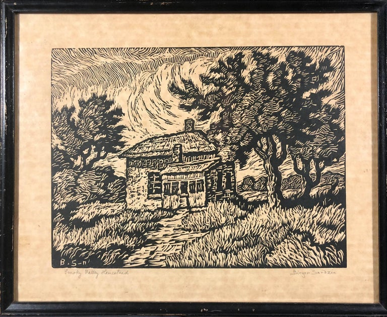 Smoky Valley Homestead - Print by Birger Sandzen