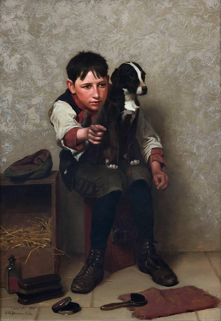 John George Brown Figurative Painting - Lookey There!