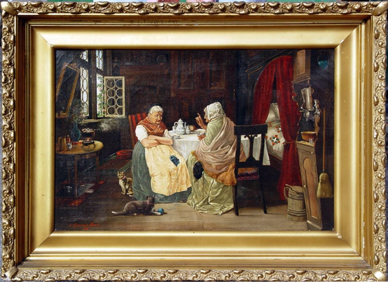 The Gossips - Painting by L. Clarence Ball