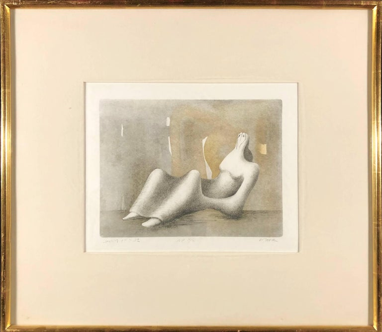 Reclining Figure - Dawn - Print by Henry Moore