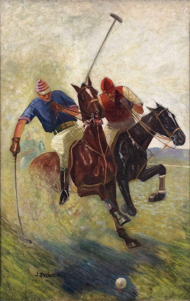 Benton Henderson Clark Polo Players Painting For Sale
