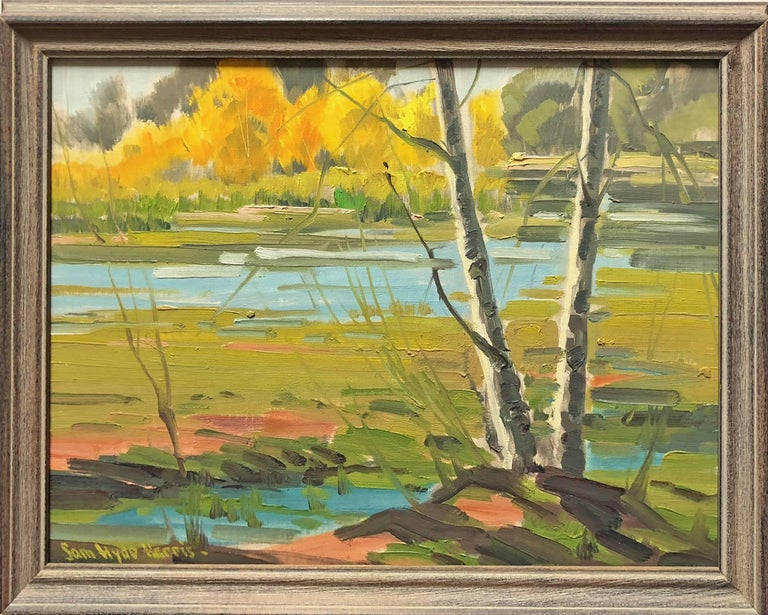 Along the River - Painting by Samuel Hyde Harris